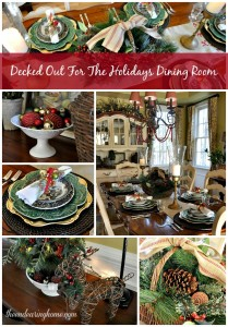 Our Decked Out For The Holidays Dining Room